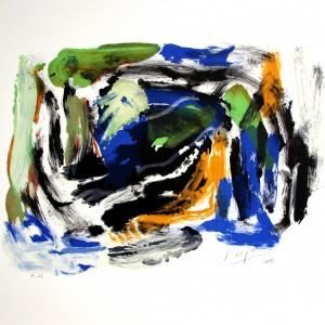 Carl Nesjar - Blått Kystbilde